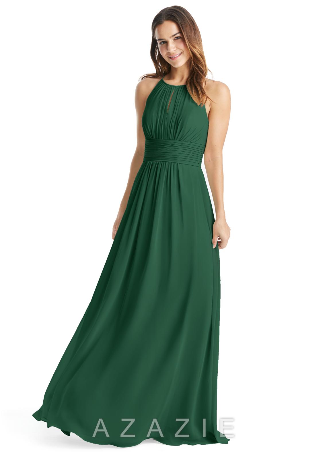 Azazie bonnie bridesmaid dress azazie color dark green ombrellifo Images