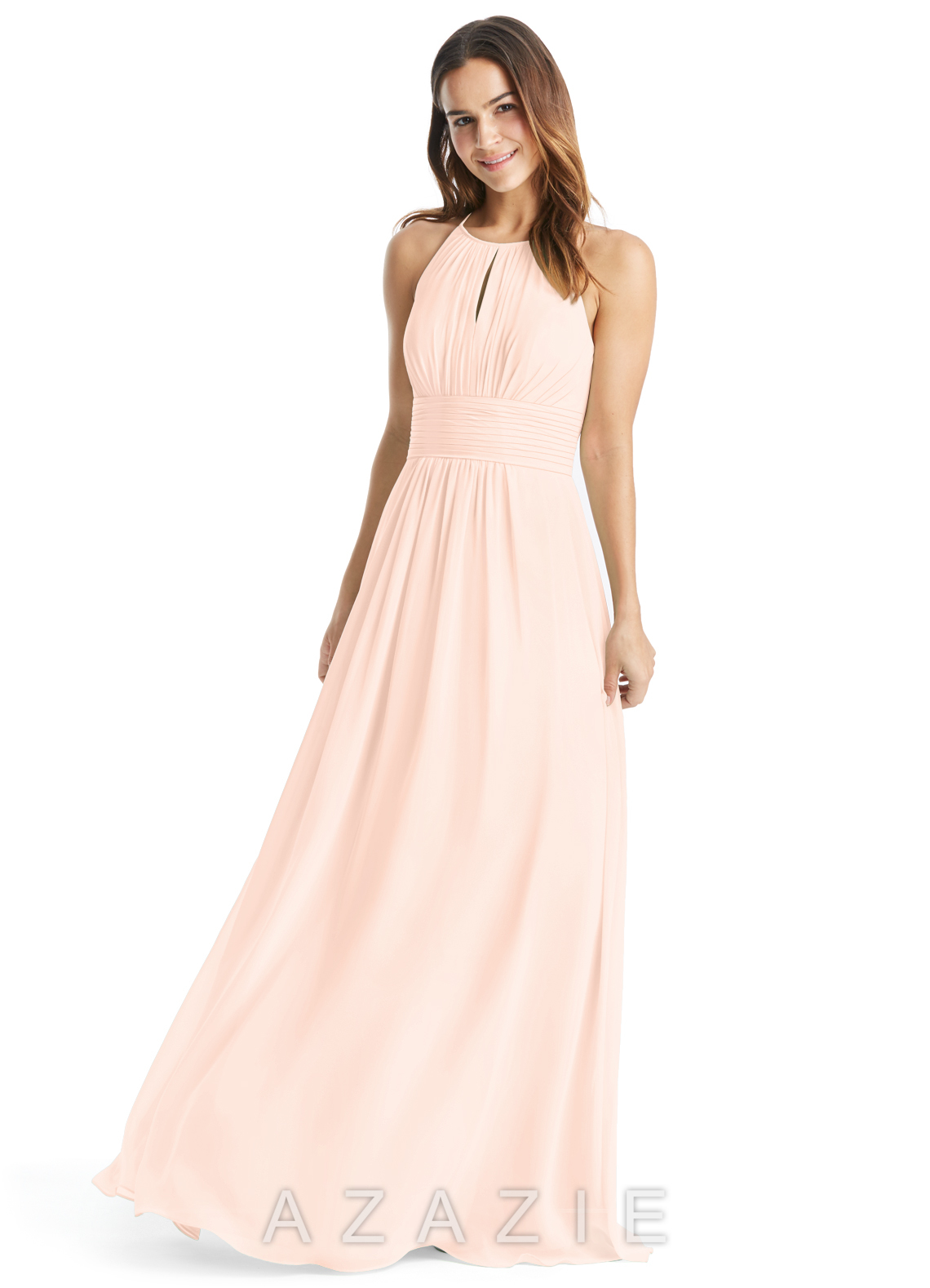 Pearl pink bridesmaid dresses pearl pink gowns azazie click to save to your showroom 64 colors ombrellifo Images