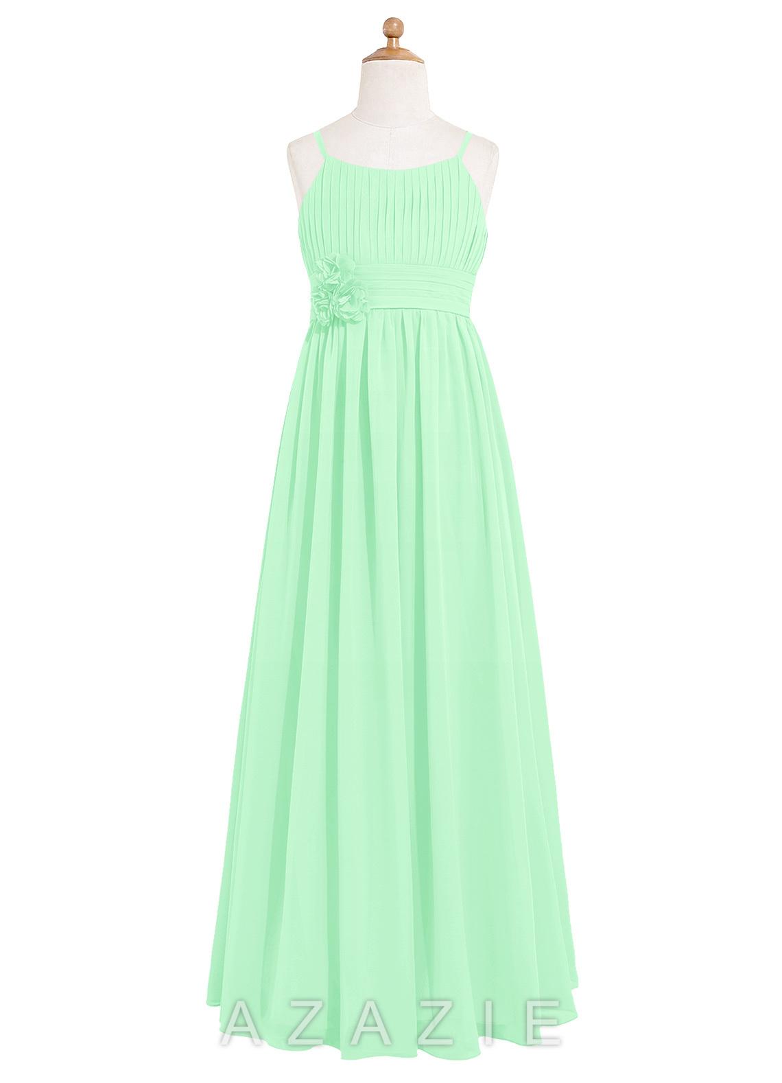 Azazie astrid jbd junior bridesmaid dress azazie color mint green ombrellifo Image collections