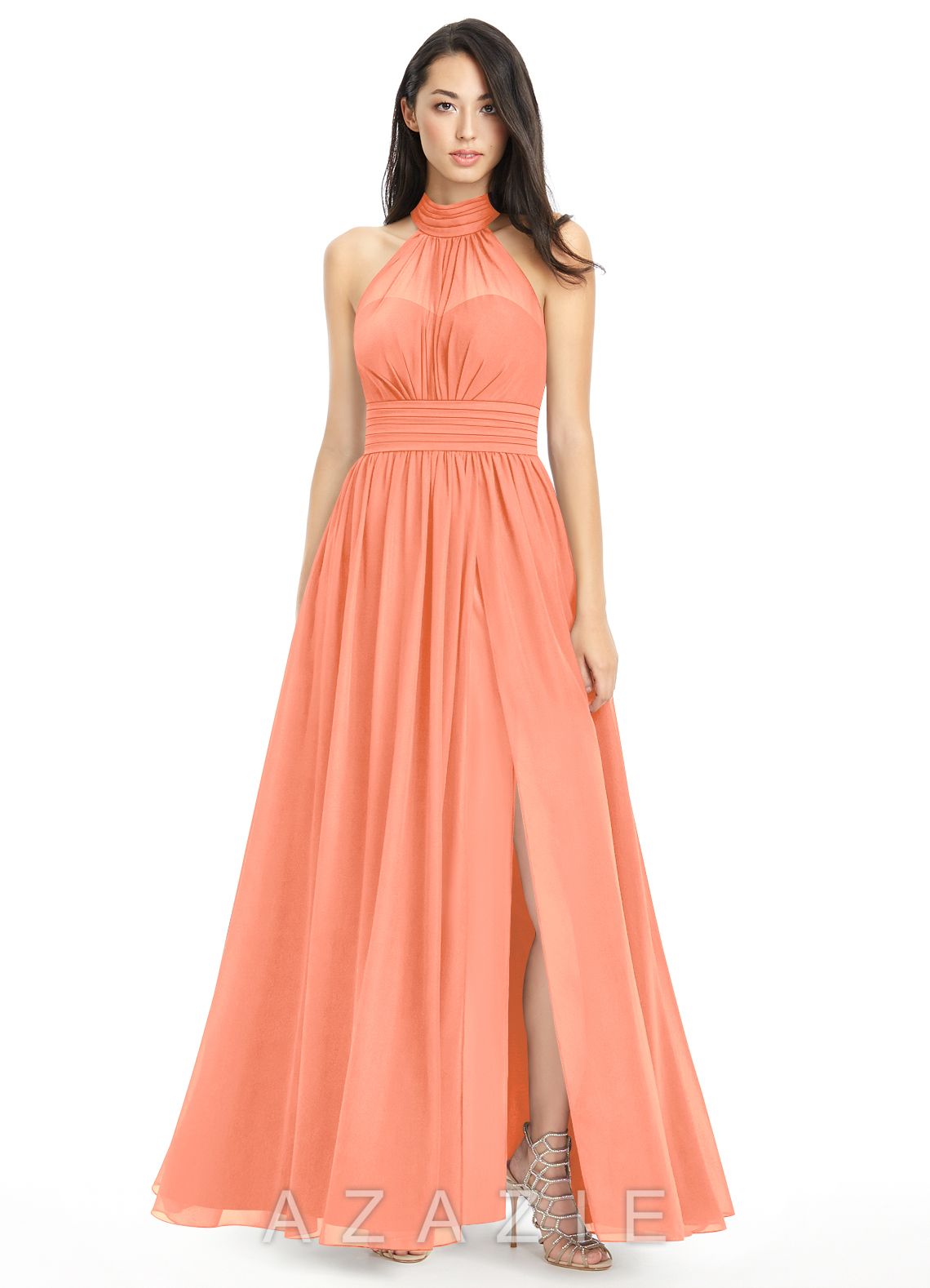 Sunset colored wedding dress