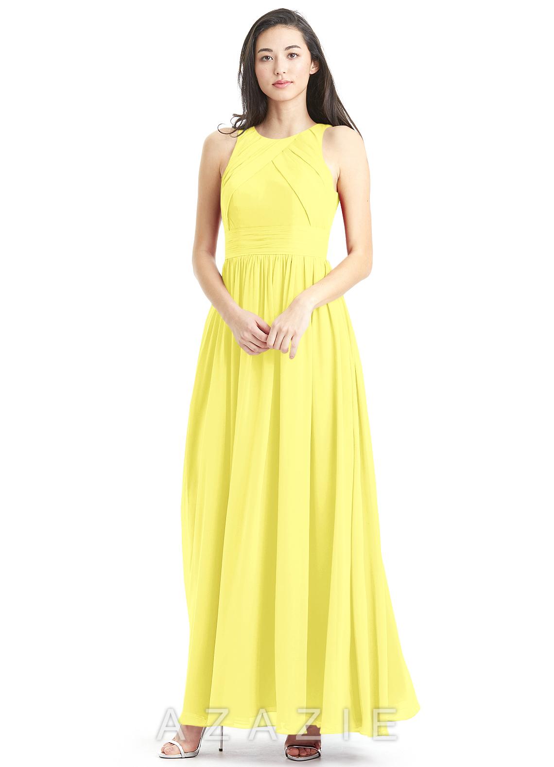 Azazie harper bridesmaid dress azazie color lemon ombrellifo Images