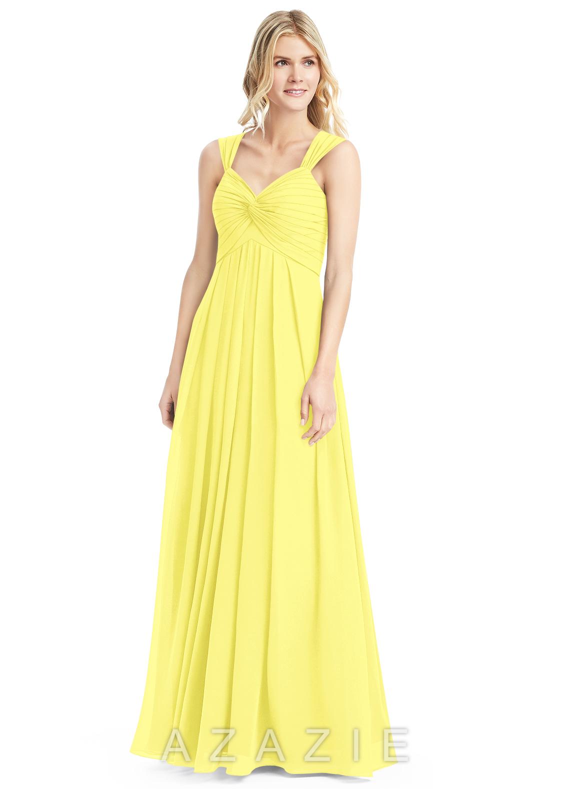 Azazie kaitlynn bridesmaid dress azazie color lemon ombrellifo Images