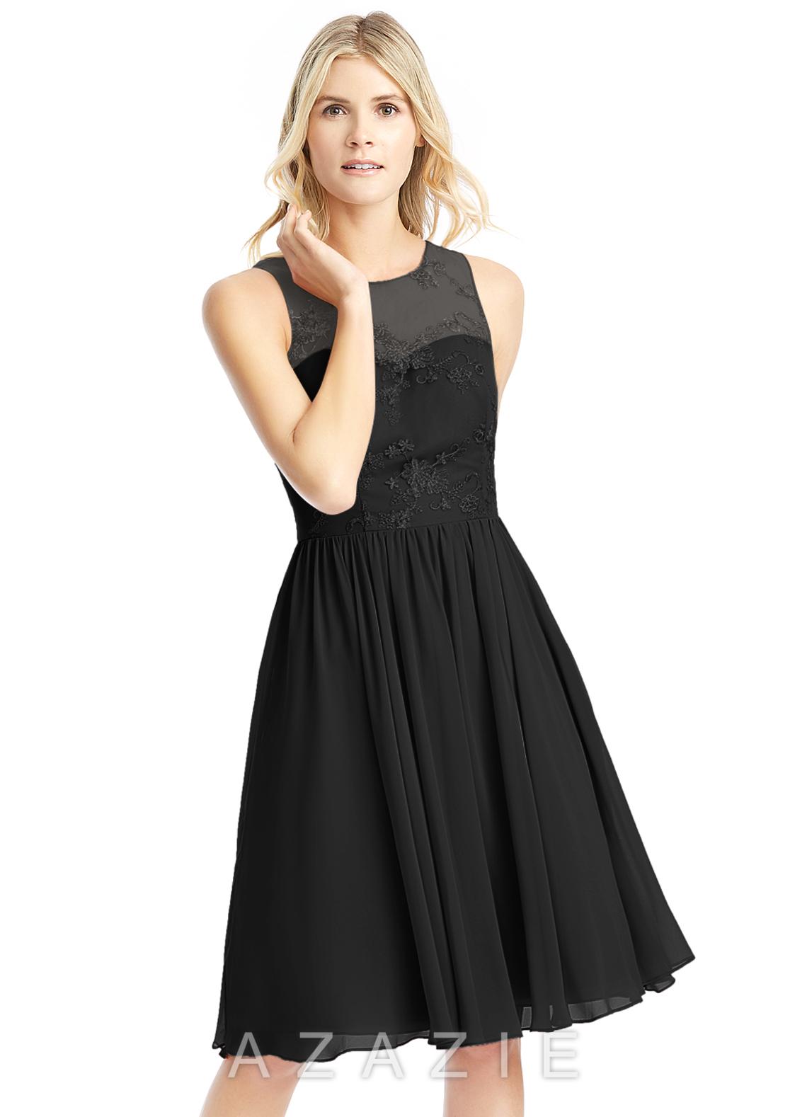 Azazie victoria bridesmaid dress azazie color black ombrellifo Images