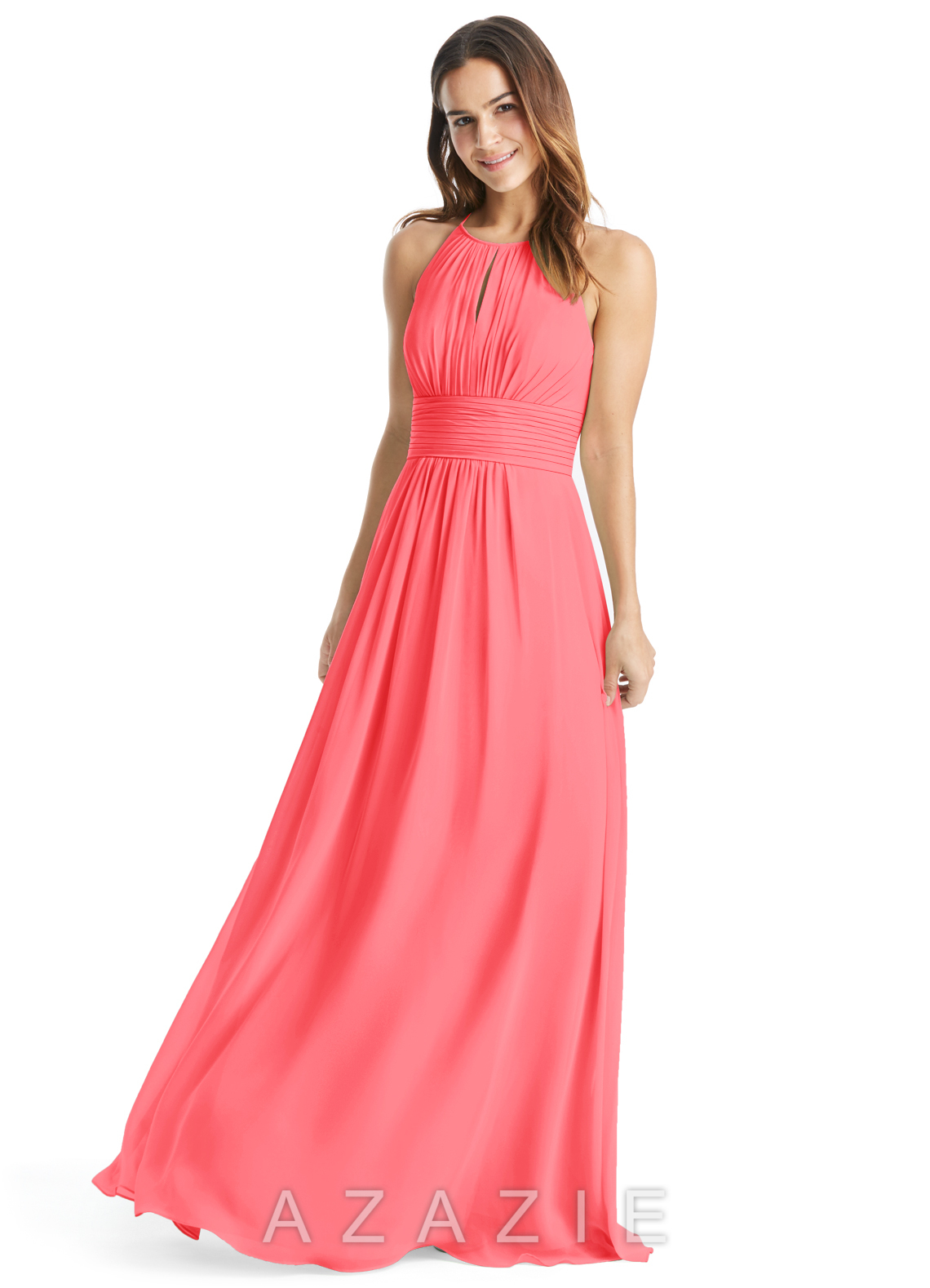 Azazie bonnie bridesmaid dress azazie color watermelon ombrellifo Images
