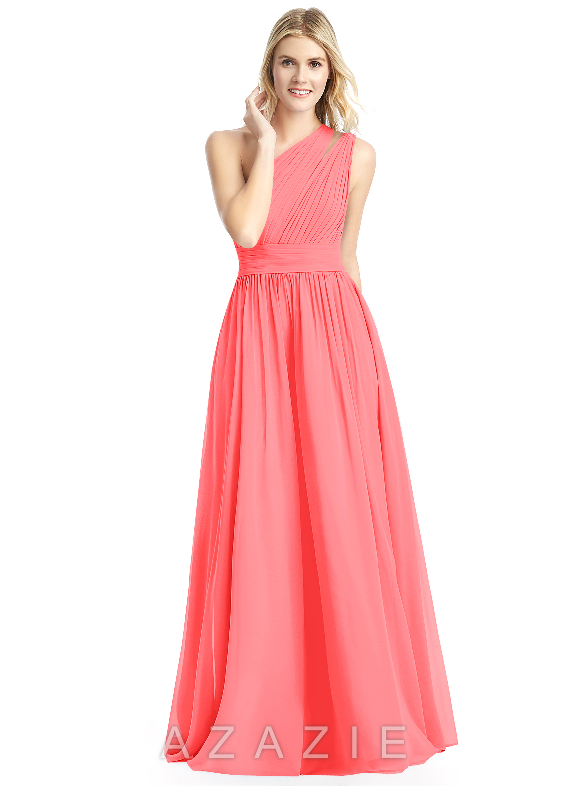 Azazie molly bridesmaid dress azazie color watermelon ombrellifo Images