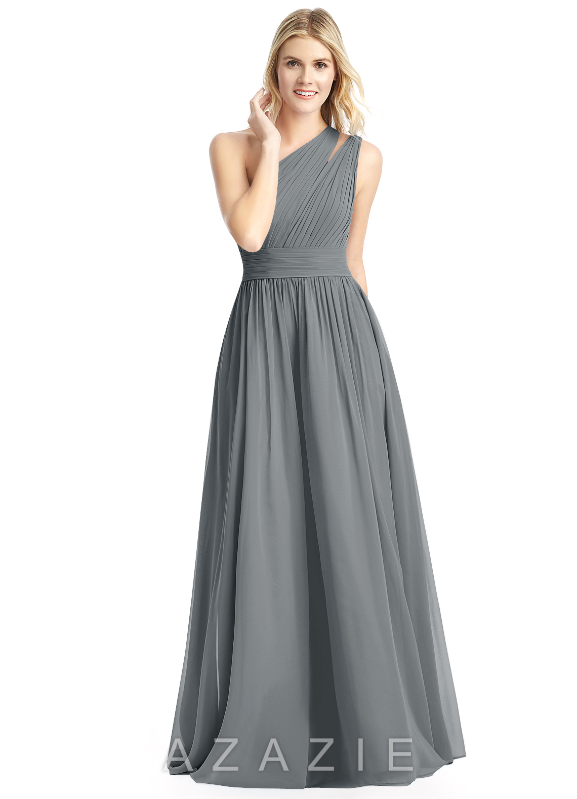 Steel Grey Bridesmaid Dresses Gowns