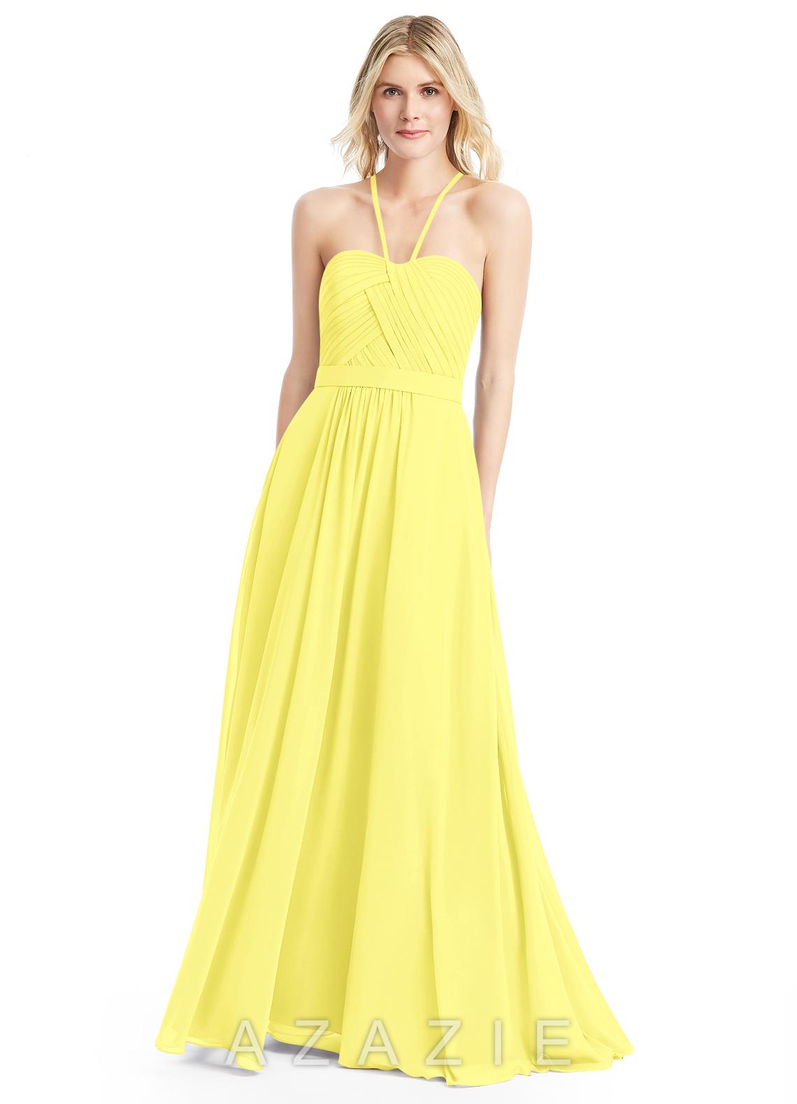 Azazie felicity bridesmaid dress azazie color lemon ombrellifo Image collections