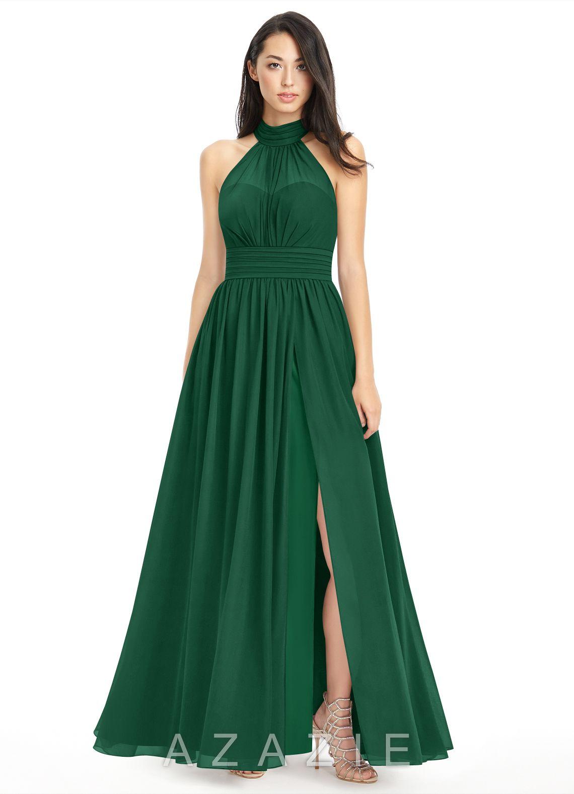 Azazie iman bridesmaid dress azazie color dark green ombrellifo Images