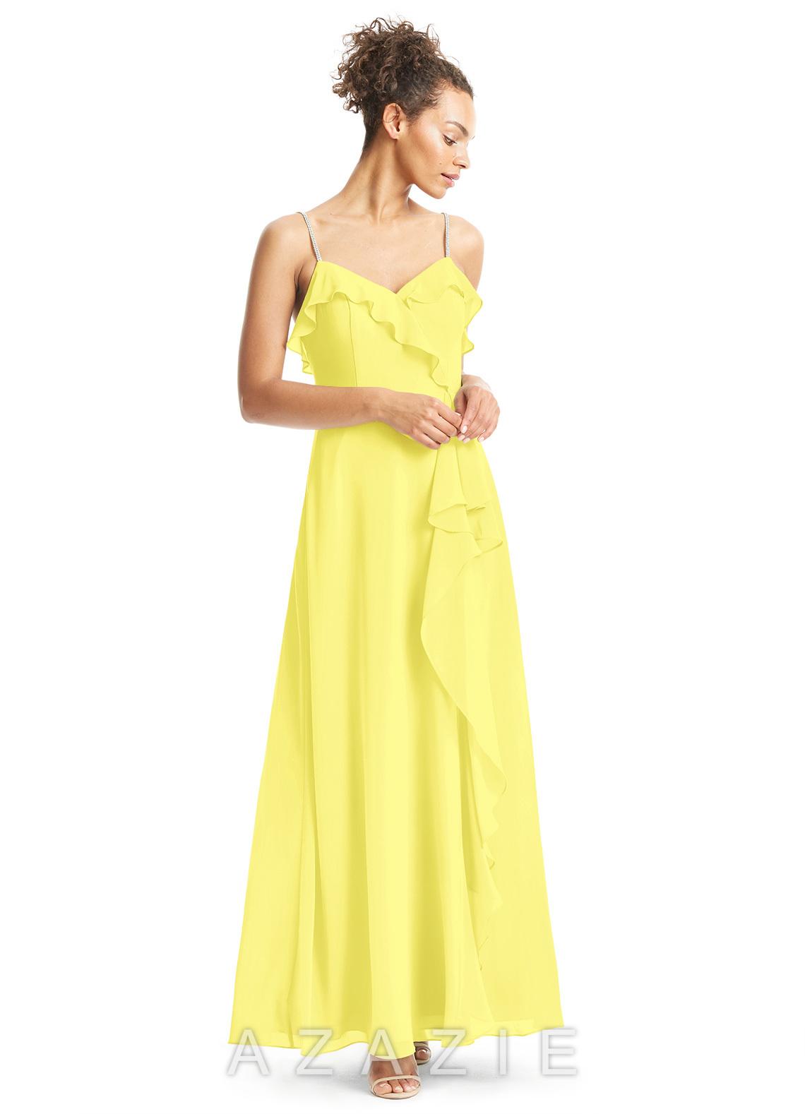 Azazie kendra bridesmaid dress azazie color lemon ombrellifo Images