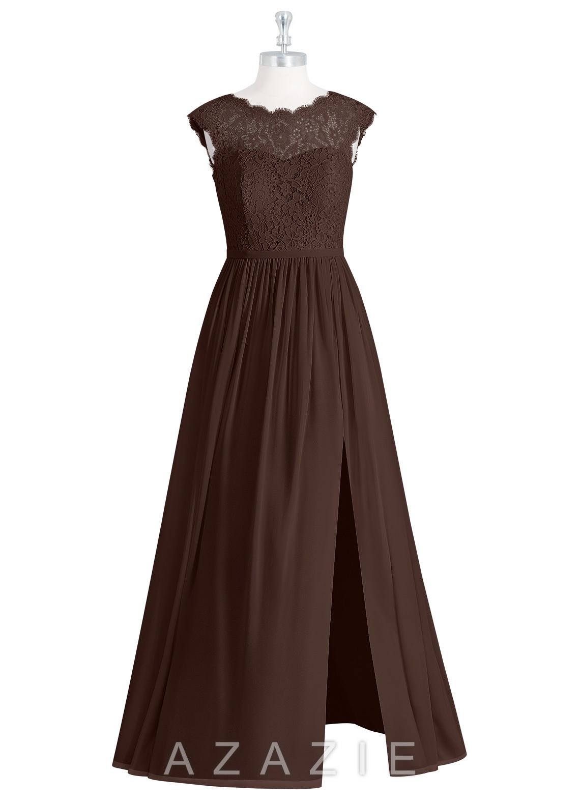 Azazie arden bridesmaid dress azazie color chocolate ombrellifo Choice Image