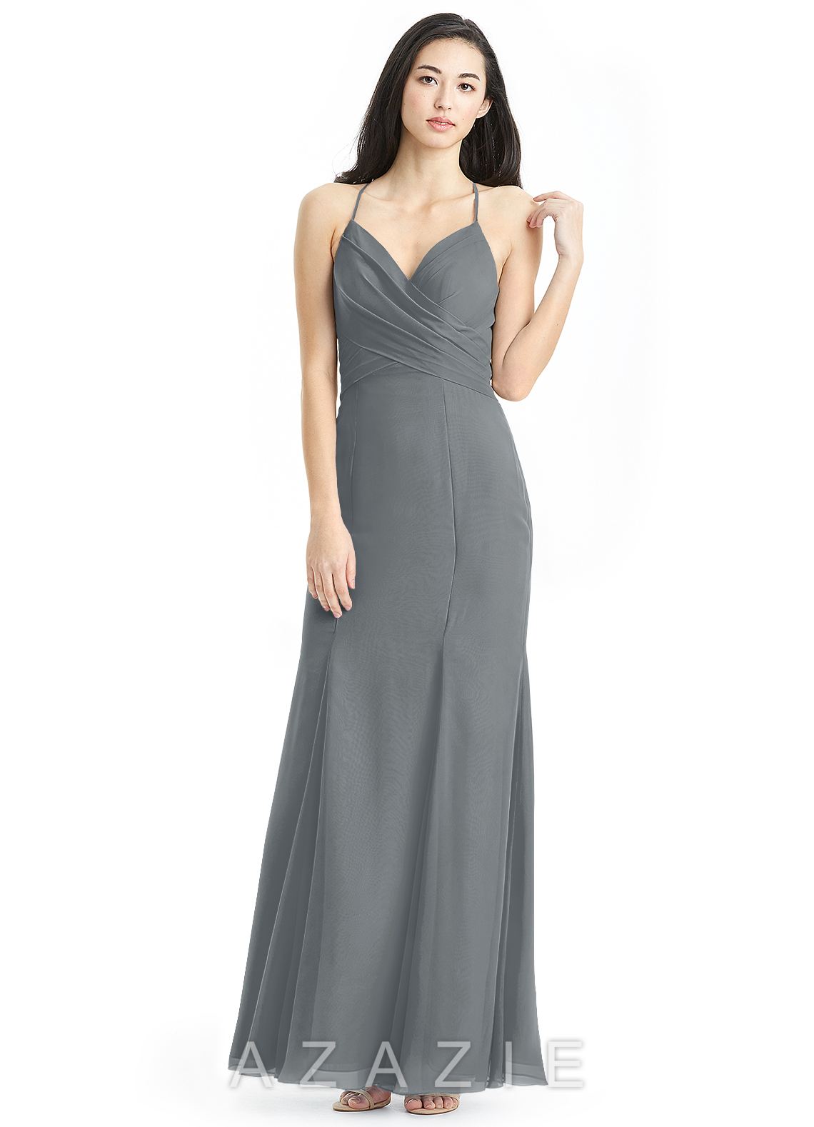 Azazie carolina bridesmaid dress azazie color steel grey ombrellifo Choice Image
