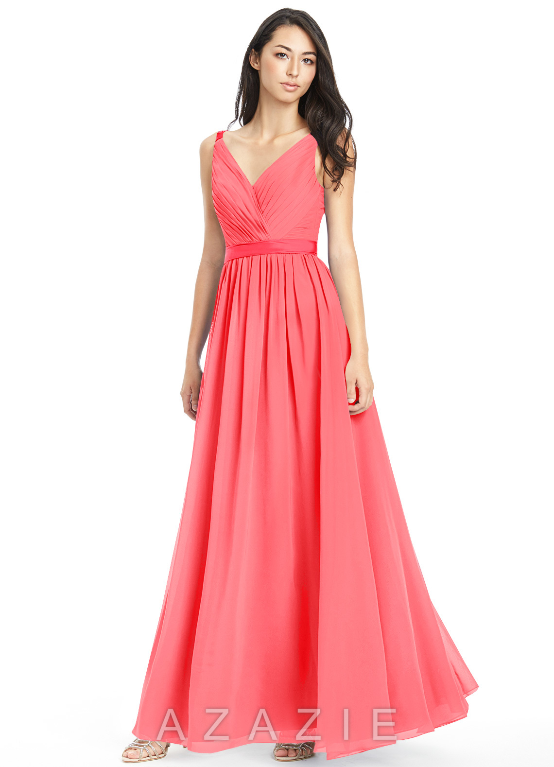 Azazie leanna bridesmaid dress azazie color watermelon ombrellifo Images