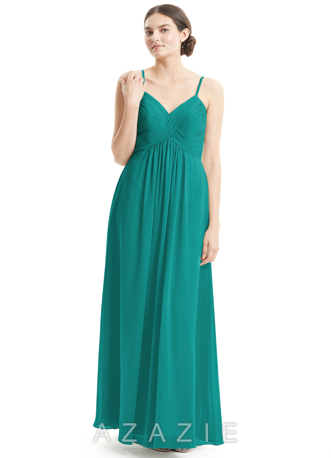 Azazie shannon bridesmaid dress azazie color jungle green ombrellifo Choice Image