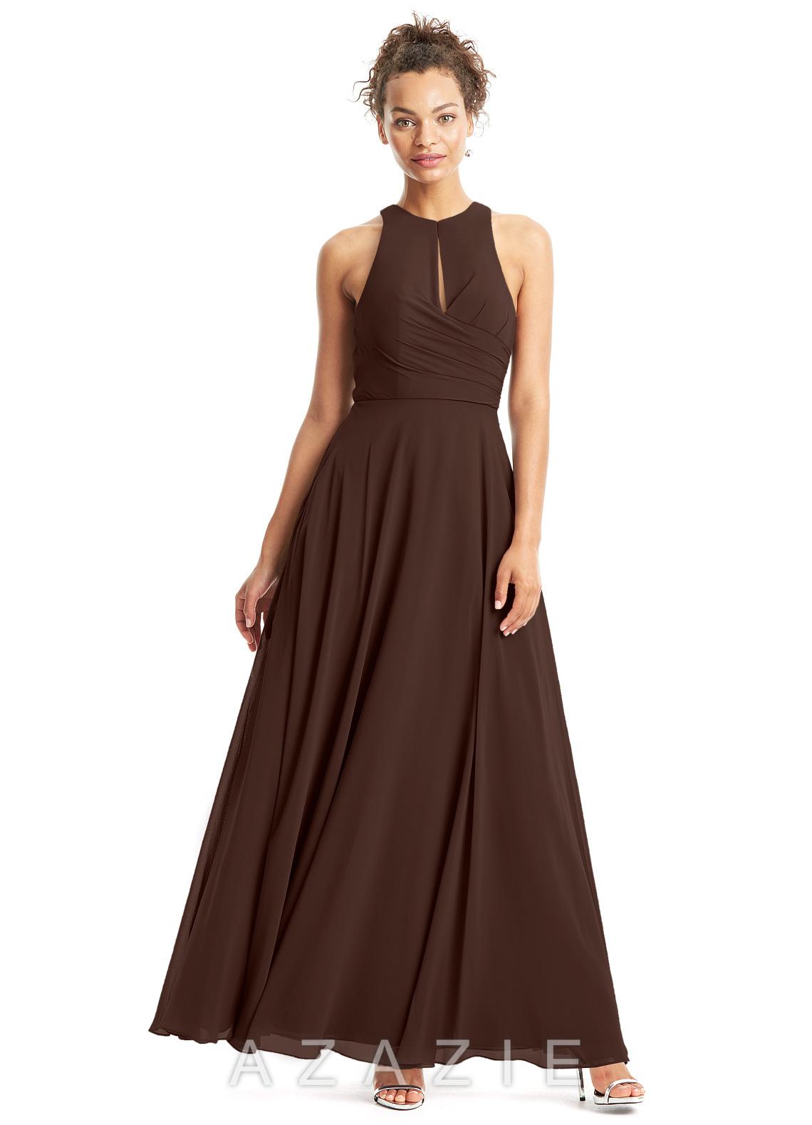 Azazie bridget bridesmaid dress azazie color chocolate ombrellifo Choice Image