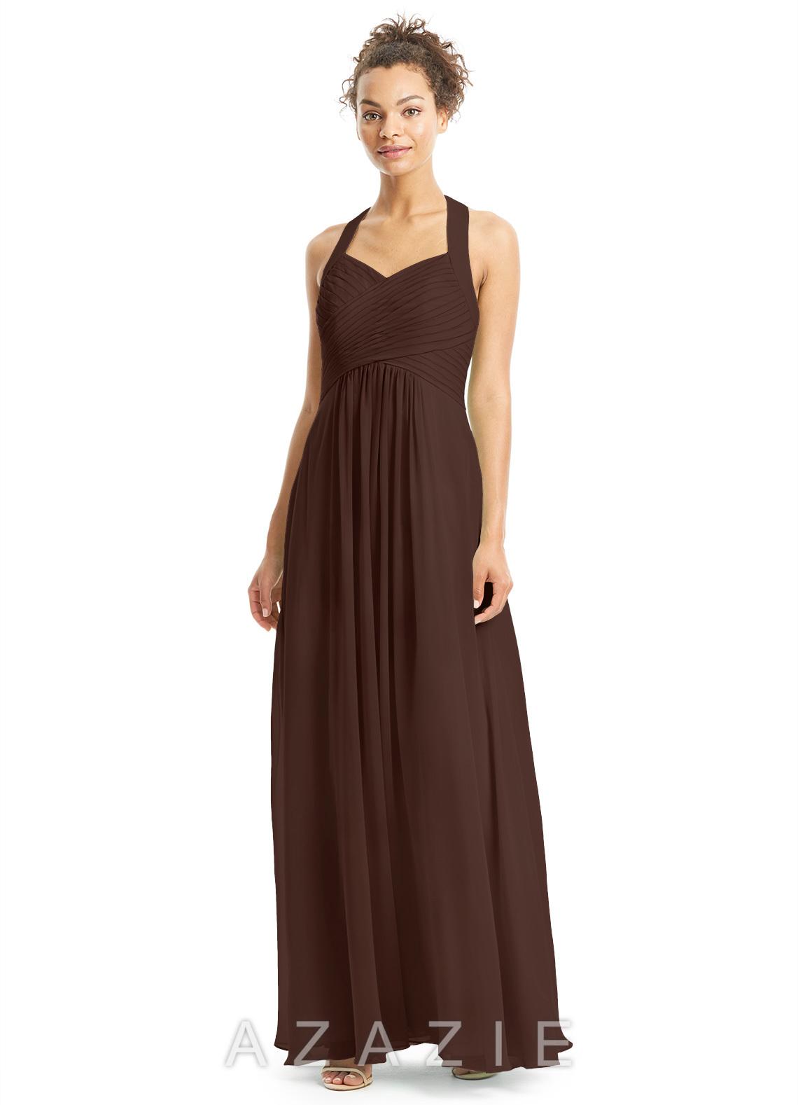 Azazie savannah bridesmaid dress azazie color chocolate ombrellifo Choice Image