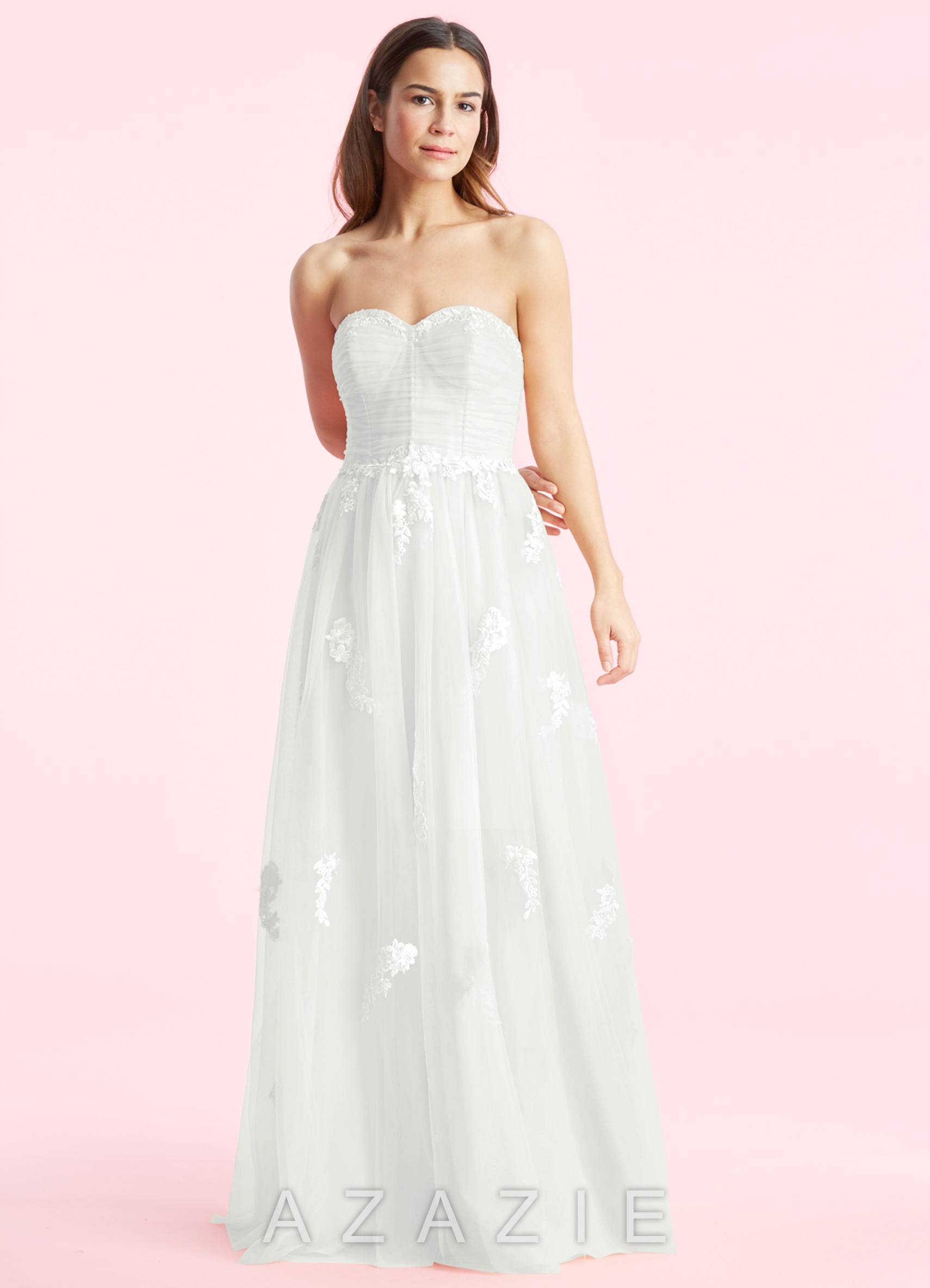 Azazie quinn bg wedding dress azazie for Ivory color wedding dress