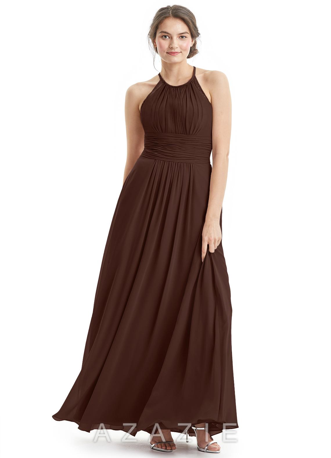 Azazie regina bridesmaid dress azazie color chocolate ombrellifo Choice Image