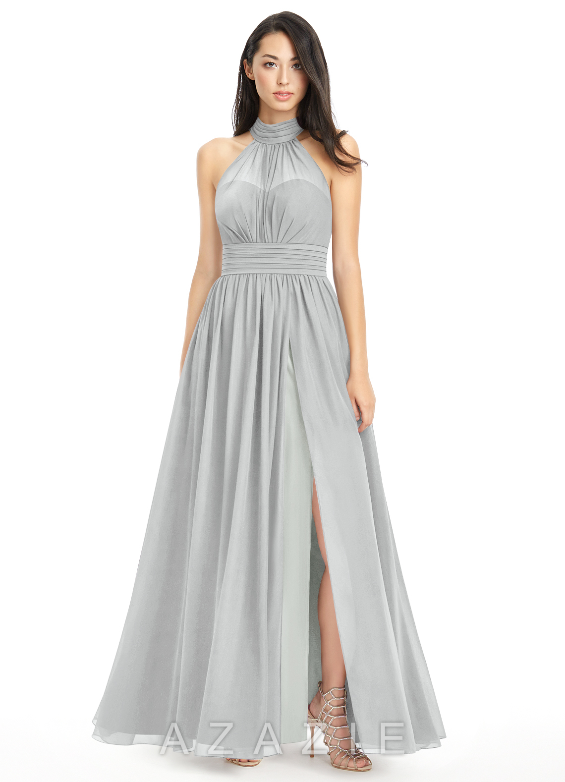 Silver bridesmaid dress good dresses for Metallic bridesmaid dresses wedding