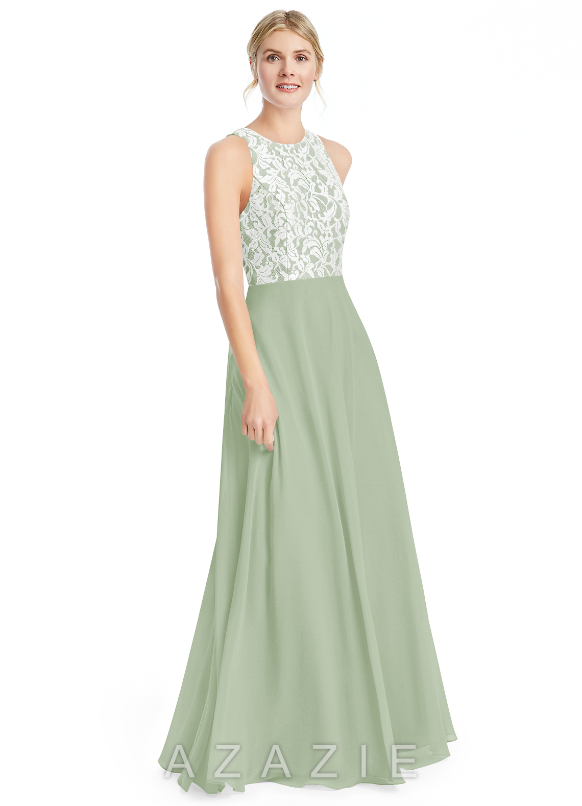 Azazie kate bridesmaid dress azazie color dusty sage ombrellifo Image collections