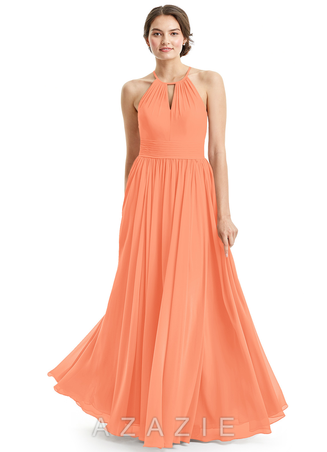 papaya colored bridesmaid dresses