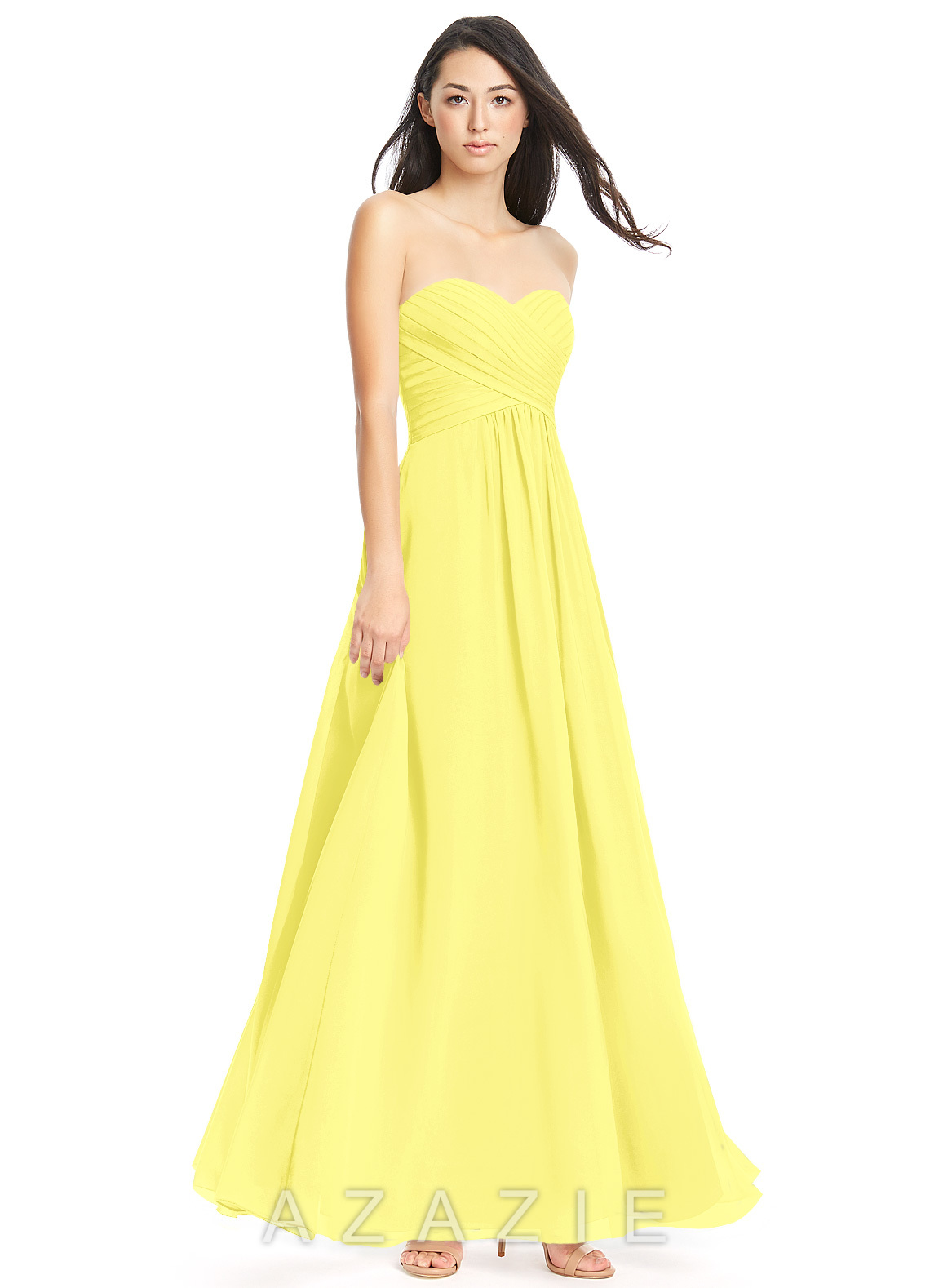 Azazie yazmin bridesmaid dress azazie color lemon ombrellifo Images