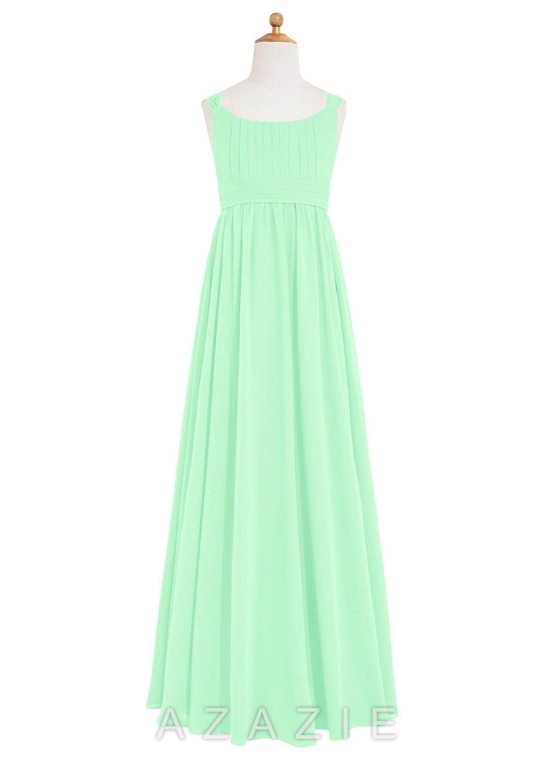Azazie tiana jbd junior bridesmaid dress azazie color mint green ombrellifo Image collections