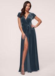 Dreaming Of You French Blue Velvet Maxi Dress