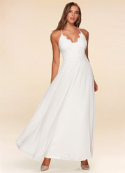 Athena White Lace Maxi Dress