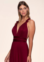 Venice Convertible Burgundy Maxi Dress