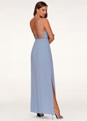Weekend Getaway Slate Blue Maxi Dress
