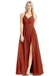 f99a795f840 Azazie Iman Bridesmaid Dress - Rust