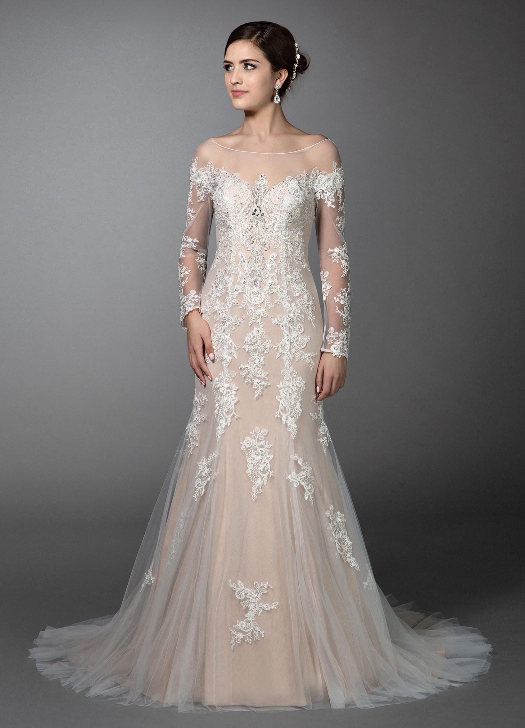 Azazie Fergie Bg Wedding Dress - Diamond Whitenude  Azazie-7362