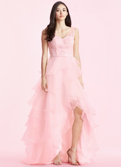 Bg pink white dress.