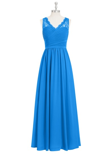 Azazie beverly bridesmaid dress azazie for Ocean blue wedding dress
