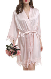 Frolick Lace and Satin Robe
