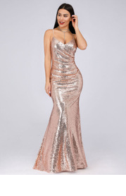 EVER-PRETTY Ruched Sequin Bodycon Dress