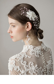 Pearl Tulle Headpieces