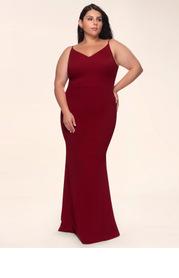 Blush Mark Plus Size Day to Night Stretch Crepe Maxi Dress