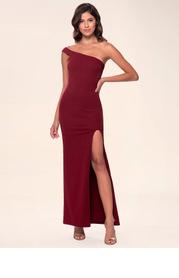 Blush Mark Iconic {Color} High Split Stretch Crepe Maxi Dress
