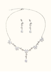 Crystal Floral Jewelry Set