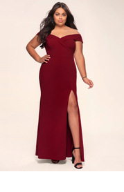 Blush Mark Plus Size My Valentine Stretch Crepe Maxi Dress