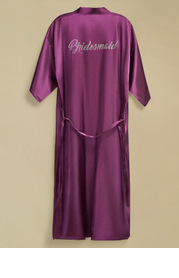 Pre-Wedding Long Rhinestone Bridesmaid Robe