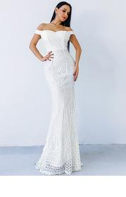 Missord Off Shoulder Sequin Mermaid Bodycon Dress