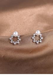 Star Loop Pearl Earrings