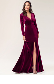 Blush Mark New Moon {Color} Velvet Maxi Dress