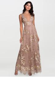 Blush Mark Romantic Adventure {Color} Embroidery Tulle Maxi Dress