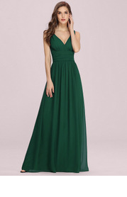 EVER-PRETTY Double V Neck Floral Print Dress