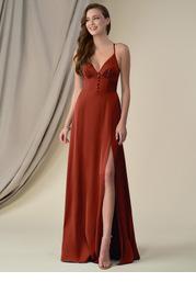 Azazie Mina Stretch Satin Dress
