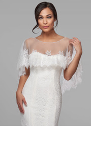 Azazie Delight Lace Tulle Wrap