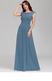 EVER-PRETTY Cut Out Back Lace Bodice Prom Dress